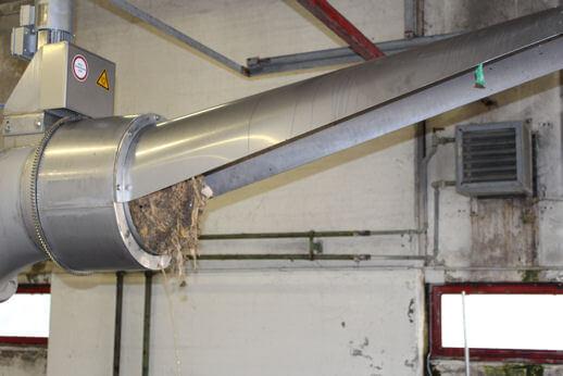 Verteilsystem für Rechen- und Süttgut Rechengutverteilsystem Containerverteilsystem Rechengutentsorgung Rechengut Kläranlage Theuern Amberg Abwasser Klärwerk
